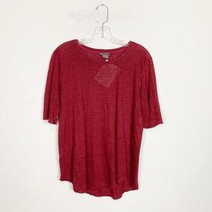 Vince | maroon heathered short sleeve t-shirt S